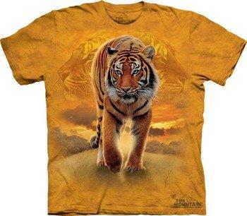 koszulka THE MOUNTAIN - RISING SUN TIGER, barwiona