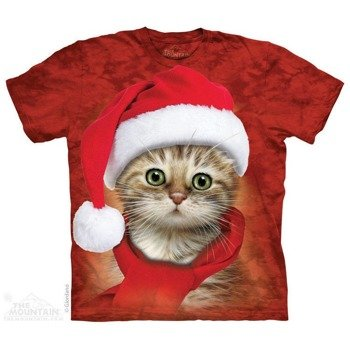 koszulka THE MOUNTAIN - SANTA RED CAT, barwiona