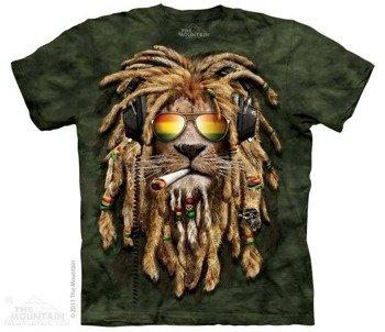 koszulka THE MOUNTAIN - SMOKIN JAHMAN, barwiona