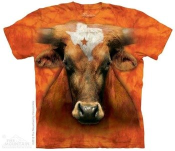 koszulka THE MOUNTAIN - TEXAS LONGHORN, barwiona