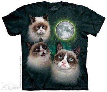 koszulka THE MOUNTAIN - THREE GRUMPY CAT MOON, barwiona