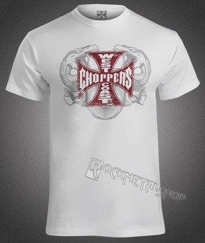koszulka WEST COAST CHOPPERS - DOUBLE TROUBLE biała