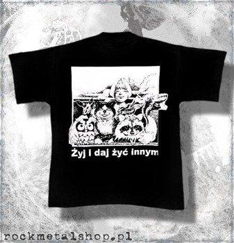 koszulka ŻYJ I DAJ ŻYĆ INNYM