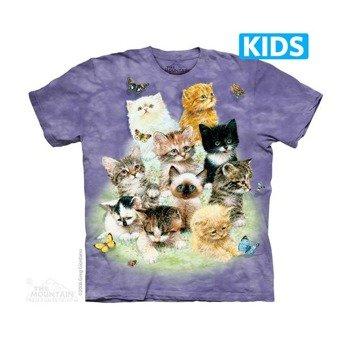 koszulka dziecięca THE MOUNTAIN - 10 KITTENS KIDS, barwiona
