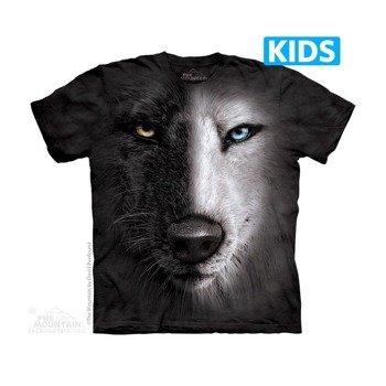 koszulka dziecięca THE MOUNTAIN - BIG FACE WOLF, barwiona