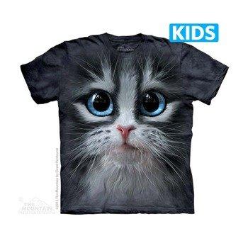 koszulka dziecięca THE MOUNTAIN - CUTIE PIE KITTEN, barwiona