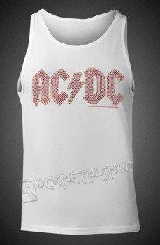 koszulka na ramiączkach AC/DC - LOGO WHITE, cyrkonie