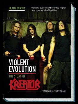 książka KREATOR - VIOLENT EVOLUTION ,wersja anglojęzyczna