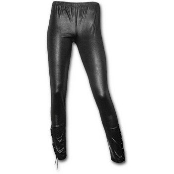 legginsy SPIRAL - LEATHER LOOK