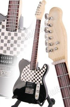 miniaturka gitary AVRIL LAVIGNE: SQUIER GRAMMY CHECKBOARD (MPA205)