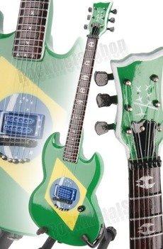 "miniaturka gitary SOULFLY - MAX CAVALERA: ESP ""BRAZILIAN FLAG"" STYLE (MPA135)"
