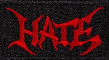 naszywka HATE - RED LOGO
