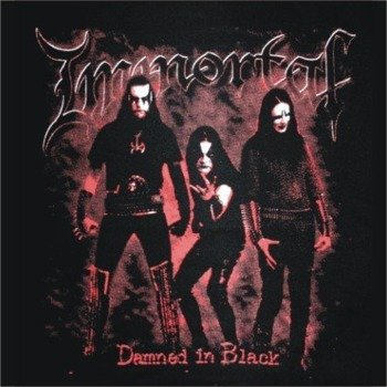 naszywka IMMORTAL - DAMNED IN BLACK