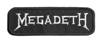 naszywka MEGADETH - LOGO WHITE