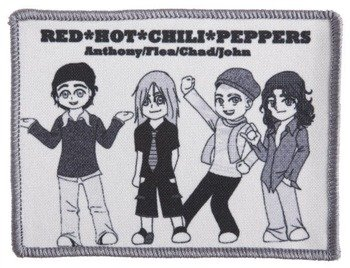 naszywka RED HOT CHILI PEPPERS -  ANTHONY, FLEA, CHAD, JOHN
