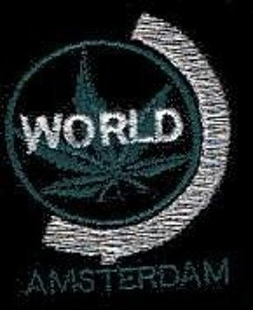 naszywka Trawka - Amsterdam