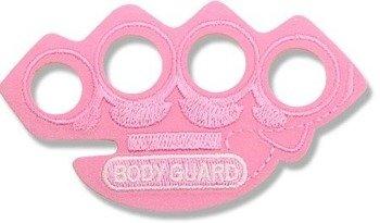 naszywka termiczna BODY GUARD RED KNUCKLE DUSTER pink (EP.507)