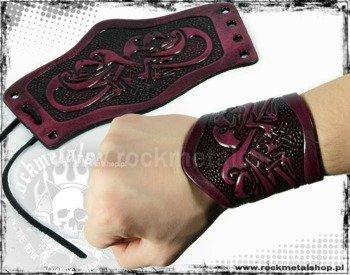 opaska na rękę wiązana 90mm HEAD EAGLE red