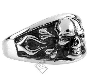 pierścień BIG SKULL