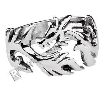 pierścień DRAGON, srebro 925