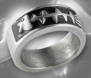 pierścień FISHBONE