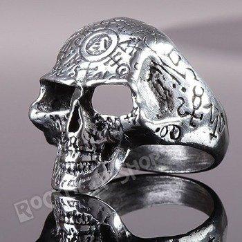 pierścień OMEGA SKULL
