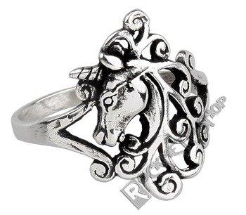 pierścień UNICORN, srebro 925