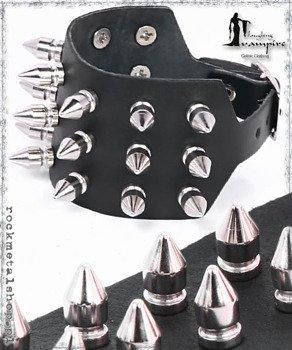 pieszczocha 3-rzędowa z ćwiekami SPIKE SMALL [LWZA-081]