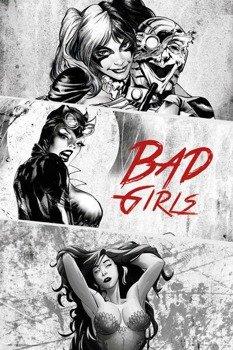 plakat DC COMICS - BADGIRLS BLACK AND WHITE