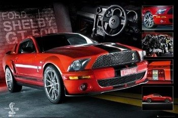 plakat EASTON RED MUSTANG