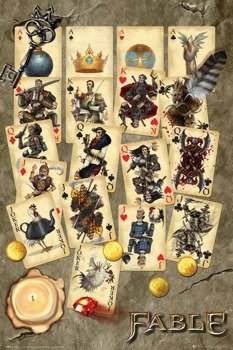 plakat FABLE - PLAYING CARDS