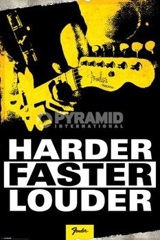 plakat FENDER - HARDER, FASTER, LOUDER