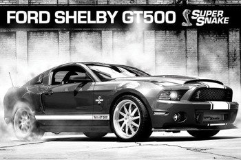 plakat FORD SHELBY MUSTANG GT500 - SUPERSNAKE
