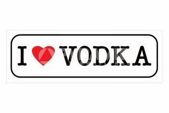 plakat I LOVE VODKA