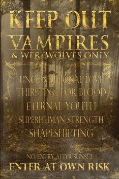 plakat KEEP OUT - VAMPIRES