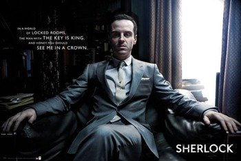 plakat SHERLOCK - MORIARTY CHAIR