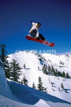plakat SNOWBOARDER