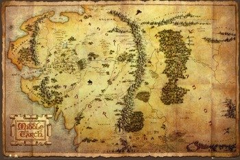 plakat THE HOBBIT - MAP