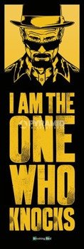 plakat na drzwi BREAKING BAD - I AM THE ONE WHO KNOCKS