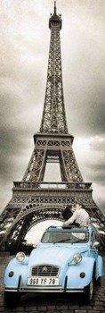 plakat na drzwi PARIS - ROMANCE
