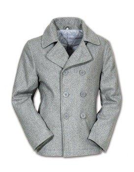 płaszcz marynarski PEA-COAT - GRAU , SURPLUS