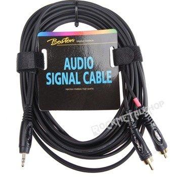 przewód audio BOSTON: 2 x RCA (cinch) - mały jack (3.5mm) stereo / 6m