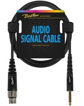 przewód audio BOSTON: XLR żeński -  DUŻY JACK STEREO (6.3mm) / 1,5m