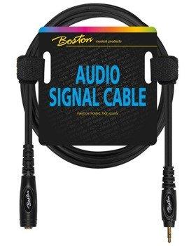 przewód audio BOSTON: gniazdo DUŻY JACK (6.3mm) stereo - MAŁY JACK (3.5mm) stereo / 3m