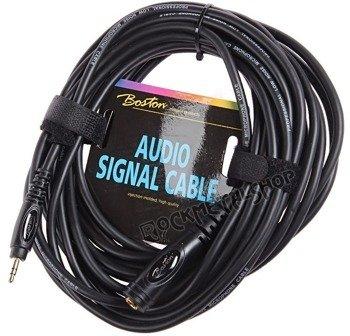 przewód audio BOSTON: gniazdo DUŻY JACK (6.3mm) stereo - MAŁY JACK (3.5mm) stereo / 6m