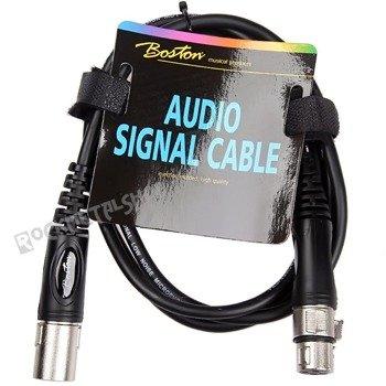 przewód mikrofonowy BOSTON: XLR męski - XLR żeński / 1,5m