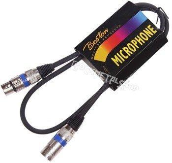 przewód mikrofonowy BOSTON: XLR żeński -  XLR męski / 1m