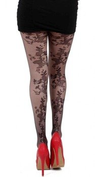 rajstopy Floral Seam Sheer Tights