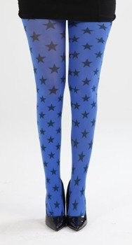 rajstopy Stars A Printed Tights - Flo Blue