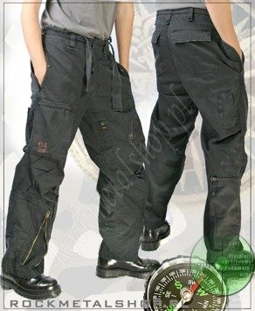 spodnie INFANTRY CARGO BLACK